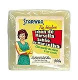 Starwax The Fabulous Jabón de Marsella en Pastilla 300g - Jabón Multiusos. Quitamanchas, Friegasuelos, Detergente para Lavadora
