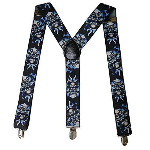 LLZGPZBD bretels 3,5 cm breed mode fluit mannelijke gimmick hoofd druk riemclip heren hip hop Y type broekriem