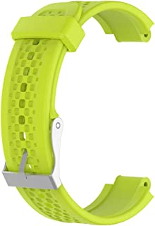 F Fityle Watch Band, Soft Silicone Watch Strap Replacement Buckle Wristband Watch Band Wrist Strap with Operating Tool for Garmin Forerunner 25 - Green