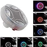 MASO 1 Pcs Flash Wheel Light, Colorful LED Solar Wheel Hub Tire Lights, Tyre Valve Cap Strobe Lamp Waterproof Kit Four Modes for Car Vehicle Motorcycle Bike (American valve)