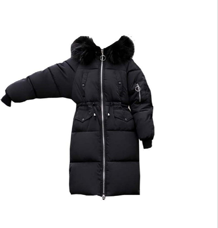 Aehoor Winter Womens Fur Collar Hooded Parker Warm Long Padded Slim Down Jacket