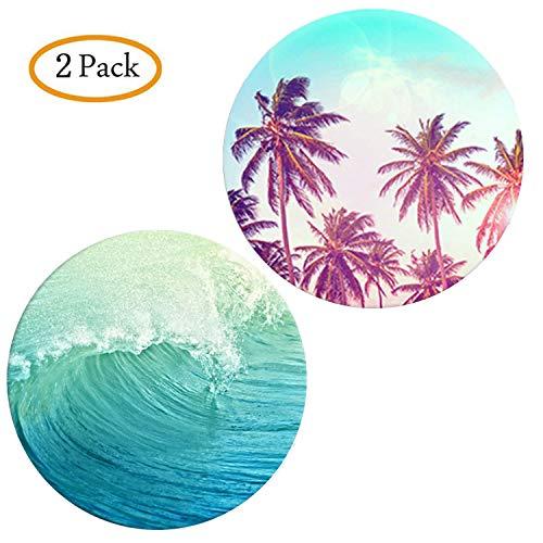 Ganzhikun 2 Pack Telefoon Ondersteuning Voor Smartphones en Tablets - Zee golven kokospalm