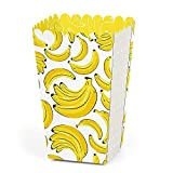 Let's Go Bananas - Tropical Party Favor Popcorn Treat Boxes - Set of 12
