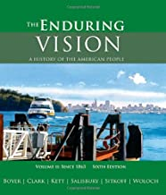 The Enduring Vision : A History of the American People, Volume II: v. 2