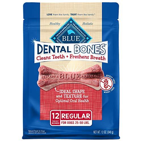Blue Buffalo Dental Bones Regular Natural Dental Chew Dog Treats, (25-50...