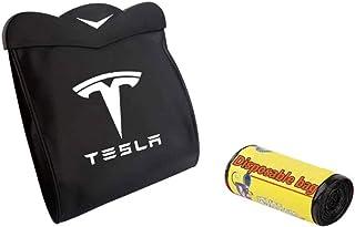 L&U Trash Can Back Seat Müllbehälter Hanging Organizer Magnetschalter Wasserdichtes Papierkorb mit LED Licht für Tesla Model 3
