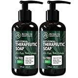 Antifungal Soap and Antibacterial Body Wash - Body Acne Wash, Tea Tree Soap with Tea Tree Oil for Jock Itch, Athletes Foot, Body Odor, Nail Fungus, Ringworm, Eczema & Back Acne Body Wash - 2 Pack