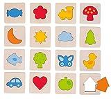 Goki 56968.0 Memory-Spiel und Puzzle, Holz, 32Teile
