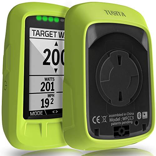 TUSITA Funda para Wahoo Elemnt Bolt - Protectora de Silicona Skin - Accesorios para computadora con GPS (Verde)