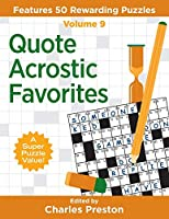 Quote Acrostic Favorites: Features 50 Rewarding Puzzles