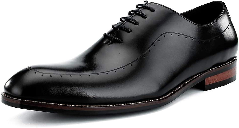 StickSeek 2019 Genuine Leather Men's Formal Dress Oxfords Elegant Man Modern Brogue shoes