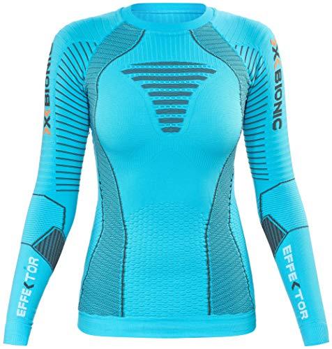 X-Bionic Running Femme Adulte imperméable effecteurs Power Ow Shirt LG SL Large Multicolore - Turquoise/Anthracite