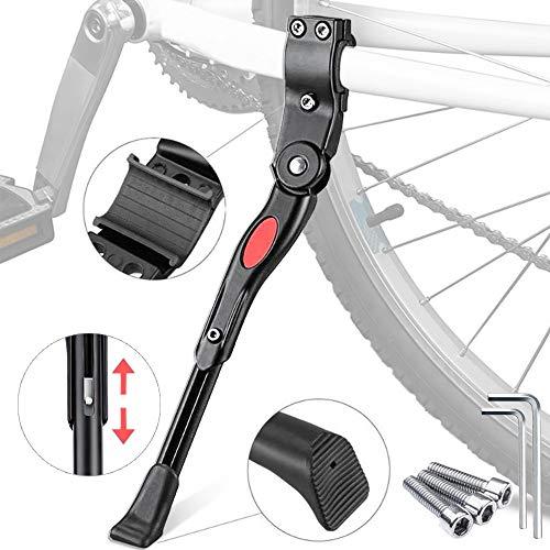 Cavalletto per bicicletta, supporto per bicicletta, altezza regolabile, con strumenti di installazione, accessori per mountain bike, bici da strada con diametro ruota di 22-27 pollici (nero)