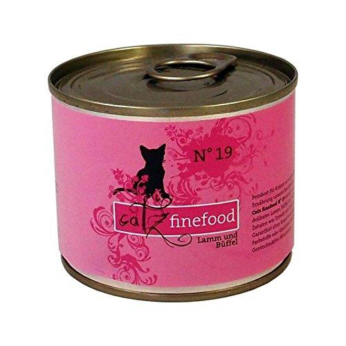 Catz finefood No.19 Lamm & Büffel | 6x 200g Katzenfutter nass
