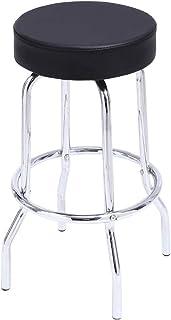 KKTONER - Taburete de Bar Taburete Alto Taburete de Bar de Metal Silla de Cocina Silla de Estructura de Metal PU Silla Alta Moderna Barra de Inicio