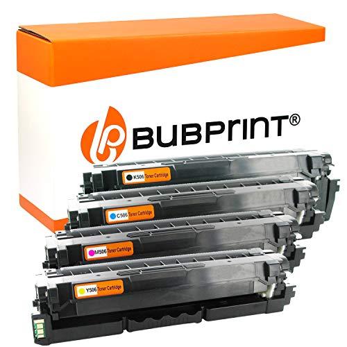 Bubprint 4 Toner kompatibel für Samsung CLT-506L für CLP-680 CLP-680DW CLP-680ND CLX-6260FD CLX-6260FR CLX-6260FW CLX-6260ND CLX-6260 Series BK C M Y