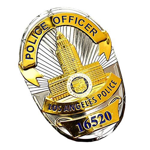 JXS Replik von Los Angeles Abzeichen, aus Kupfer, LAPD-Abzeichen, Militärfan-Metallmedaillensammlung