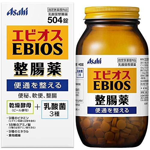 アサヒグループ食品 エビオス整腸薬 1セット(504錠×2個)
