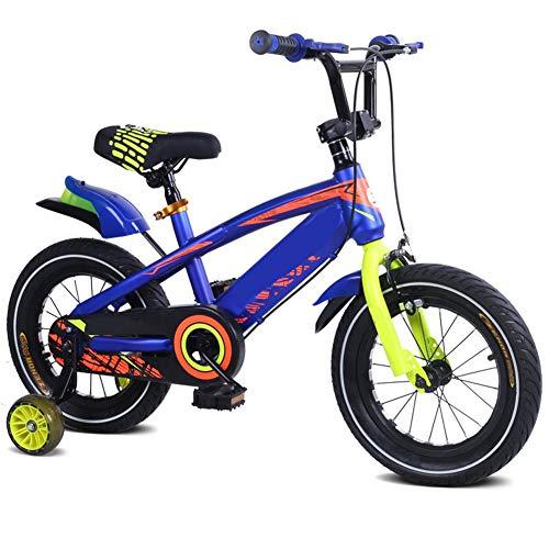 LFFME Bicicleta Infantil 12-18'para Niñas Y Niños De 3 A 12 Años con Ruedas De Entrenamiento, Guardabarros Y Frenos De Mano,A,16