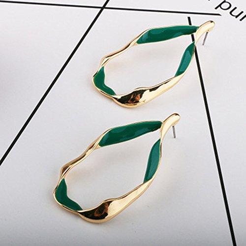 Kercisbeauty minimalistische overstate onregelmatige vorm kleur blokkeren oorbellen voor vrouwen en meisjes, perfect cadeau voor haar, verjaardag, verjaardag geschenk, dagelijks, partij accessoires