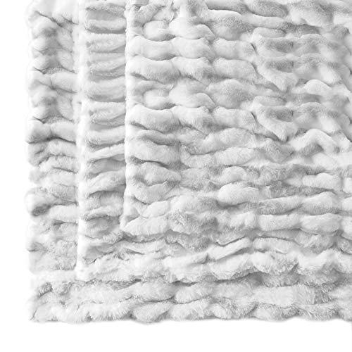Cozy Acres Snow Chinchilla Decke, 30 x 30 cm, Weiß/Silber, klein