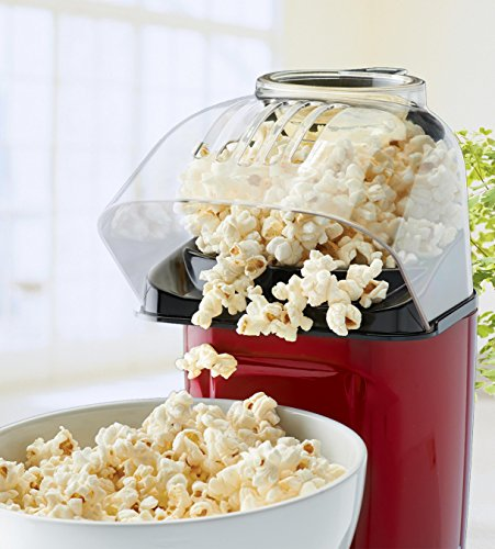 Best Prices! Hot Air Table Top Electric Pop Corn Maker with Butter Dispenser