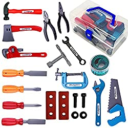 in budget affordable KEJIH 21 Piece Children's Toy Tool Set and Toy Tool, Construction Toy, Work Tool…