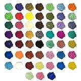 WESET 52 Colors/set Manual Mica Pigmento polvo de resina Dyes Epoxy Resin perla pigmento natural Mica Mineral Jabón hecho a mano for colorear Powder (Color : Multicolor)