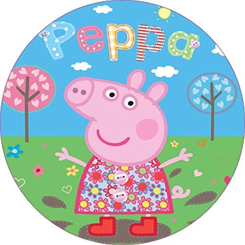 Cialda per torta PEPPA PIG PEPPAPIG decorazione alimentare senza glutine personalizzazione grafica inclusa topper cake design (formato rotondo) img 12 (Ostia, 20 cm)