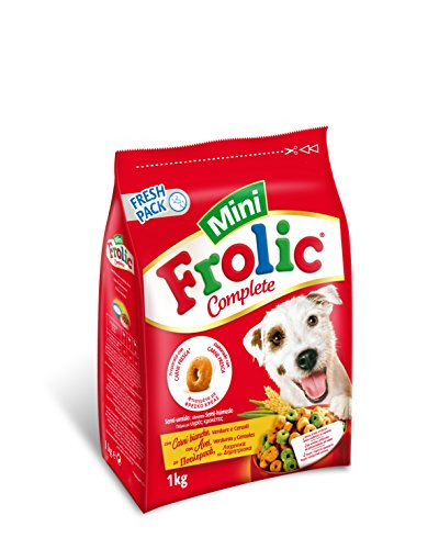 Frolic hondenvoer, droogvoer voor kleine, middelgrote en grote honden, verschillende soorten, gevogelte, groenten en granen, 6 Beutel (6 x 1kg)