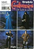 Simplicity Sewing Pattern 5840, Misses', Men's, Teens' Renaissance Robe / Tunic / Star Wars Costumes