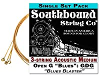 Acoustic Medium 3-String Cigar Box Guitar Strings - Low Open G [並行輸入品]