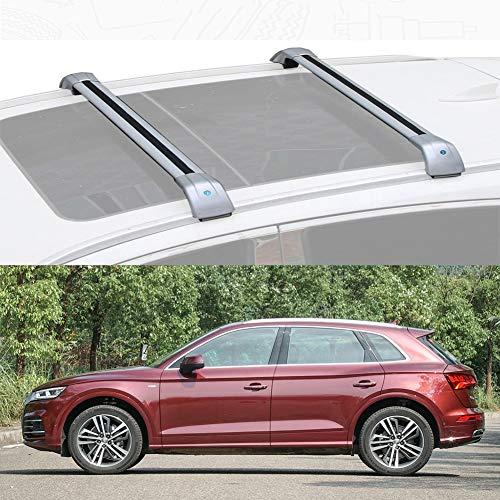 Ajuste Personalizado for Q5 Barra De Carga Baca Portaequipajes De Aluminio for Q5 2013-19 (Color : Silver, Size : For Audi Q5 2018)