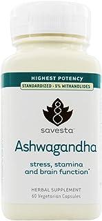 Savesta, Ashwagandha, 60 Veg Capsules