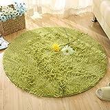 Topchances - Alfombra de dormitorio, alfombras circulares muy suaves, alfombras para sala de estar, hogar, alformbras acogedoras y peludas, alfombras de suelo, látex, Verde, Diameter:120cm/47inch
