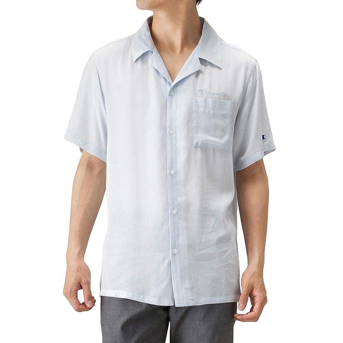 把握会計デンマーク語Champion(チャンピオン) 半袖シャツ 開襟シャツ オープンカラー ブランドロゴ 羽織り オープンカラーシャツ C3-P349 メンズ