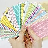 BLOUR 20 Hojas/Set Cute DIY Álbum de Fotos Scrapbook Sticker Photo Decoration Sticker Coloridas Pegatinas de Papel Color Aleatorio