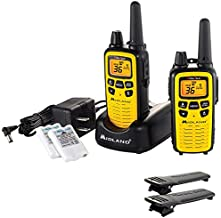 Midland - LXT630VP3, 36 Channel FRS Two-Way Radio - Up to 30 Mile Range Walkie Talkie, 121 Privacy Codes, & NOAA Weather Scan + Alert (Pair Pack) (Yellow/Black)