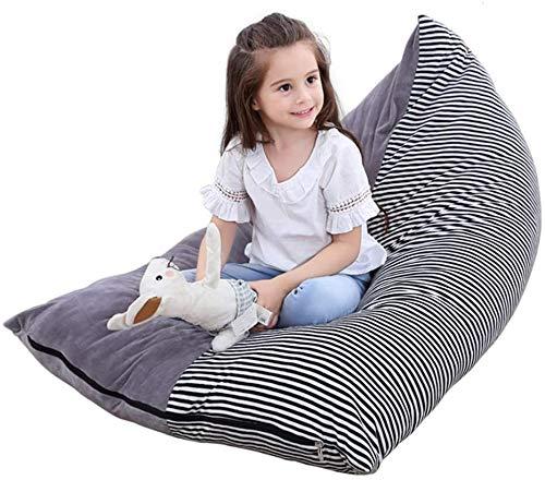 GWZZ Stofftier Bean Bag Kinder Spielzeug-Speicher-Organisator Soft Velvet Boden Faltbare Stuhl Sofa-Sitzabdeckung für Kinder, Jugendliche und Erwachsene Extra Large,Grey