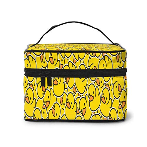 Makeup Bag Yellow Rubber Duck Bird Bath Shower Large Cosmetic Travel Bag Case Organizer Pouch Make Up Storage Toiletry Bags