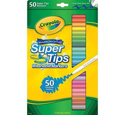 Crayola 58-5050 Super Tips Marqueur lavable, paquet de 50