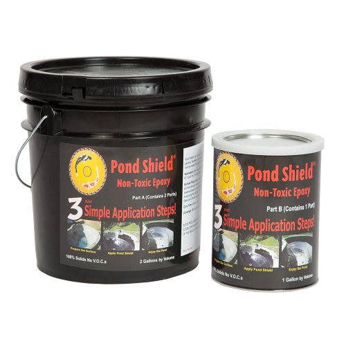 Pond Armor SKU-SKYBLUE-3GA Non-Toxic Pond Shield Epoxy Paint, 3-Gallon, Sky Blue
