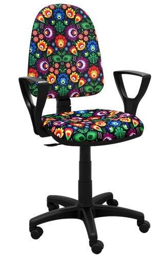 La mejor para los niños silla de escritorio de los niños silla de oficina silla giratoria Formula1 F1 Motor Princesa Niña de Fútbol (BRED Folk 2)