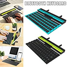 Valigrate Foldable Keyboard Wireless Bluetooth with Holder Universal,Rollable Tablet Keyboards for PC Tablet Smart Phones,64 Keys Compatible
