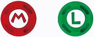 2 peças de silicone analógico para polegares para Nintend Switch NS Joy Con capa para controle Joy con (# 2 verde + vermelho)