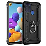 Samsung A21S Case, LaimTop Dual Layer Tough Rugged Military