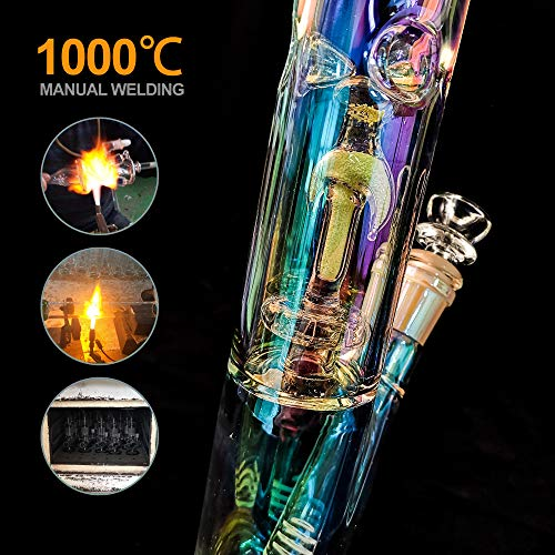 Product Image 4: REANICE Bong Hecho a mano 14,5 mm Altura 31cm Tubos de Cristal Glass Water Bong