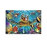 HYQHYX Cuadro mural de la impresión de la foto de la pared del mar profundo rico marino acuario sala de estar dormitorio pintura 20x30inch (50x75cm)