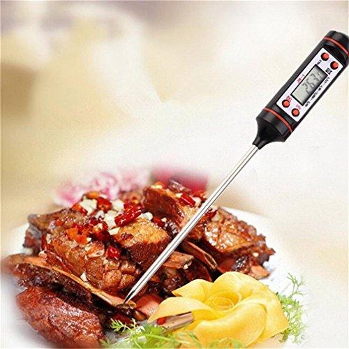 Präzise Küche BBQ Digital Probe Elektronische Thermometer Grill Essen Kochen Termometro Temperatur Messwerkzeug & Stift Kappe, schwarz und orange