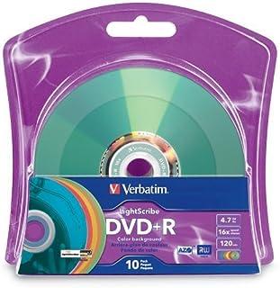 Verbatim - Lote de 10 Soportes de Colores Surtidos (16 Unidades, 4,7 GB/120 min)